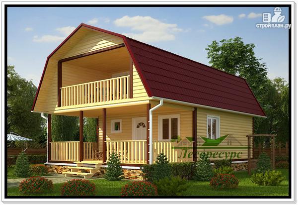 Фото: проект дом 6 на 9 с ломаной крышей