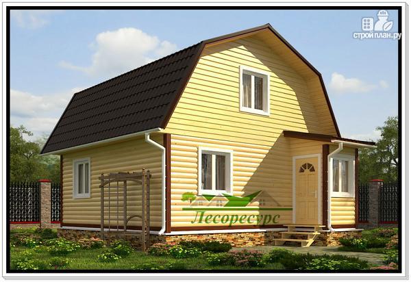 Фото: проект дачный дом с ломаной крышей