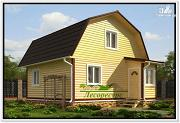 Проект дачный дом с ломаной крышей
