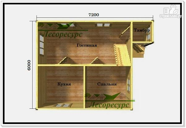 Фото 2: проект дачный дом с ломаной крышей