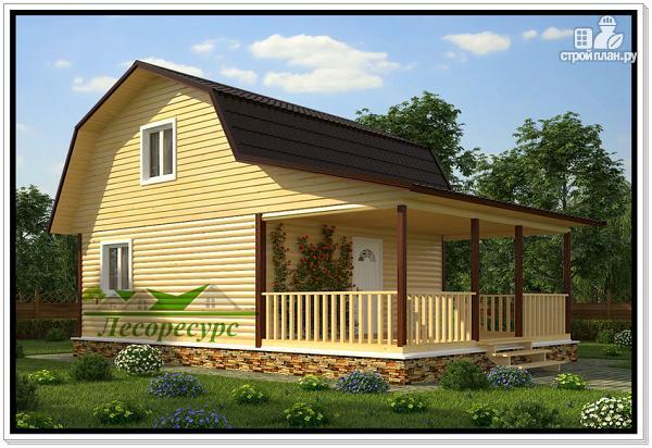 Фото: проект дом 6 на 9 с террасой