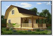 Проект дом 6 на 9 с террасой