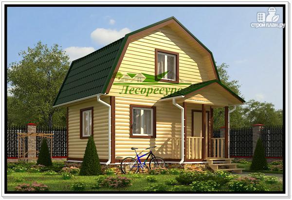 Фото: проект маленький дом из бруса