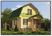 Проект маленький дом из бруса