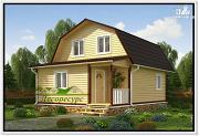 Проект брусовой дом 6 на 8