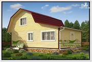 Проект дом 6 на 9 с верандой