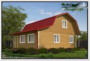 Проект каркасный дом 6 на 8 с верандой