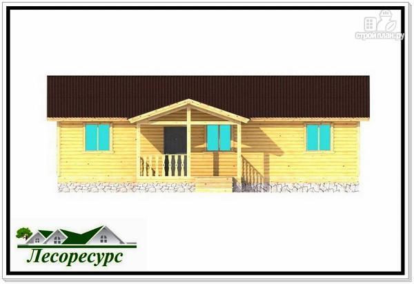 Фото 3: проект одноэтажный каркасный дом с двумя входами