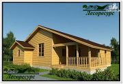 Проект одноэтажный каркасный дом с террасой