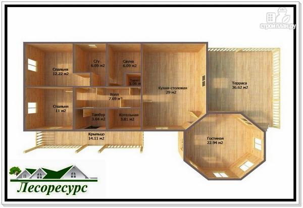 Фото 3: проект дом с отдельной гостиной