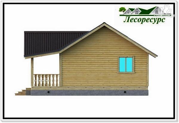 """Фото 7: проект каркасный дом с длинной террасой"""""""