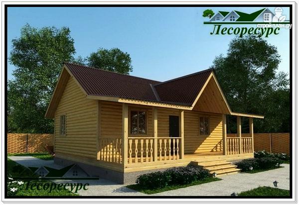 """Фото: проект каркасный дом с длинной террасой"""""""