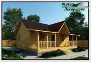 """Фото: каркасный дом с длинной террасой"""""""