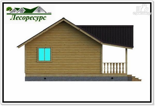 """Фото 5: проект каркасный дом с длинной террасой"""""""