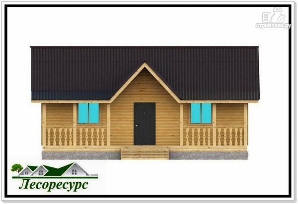 """Фото 4: проект каркасный дом с длинной террасой"""""""
