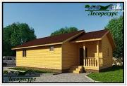 Проект одноэтажный каркасный дом 8 на 12