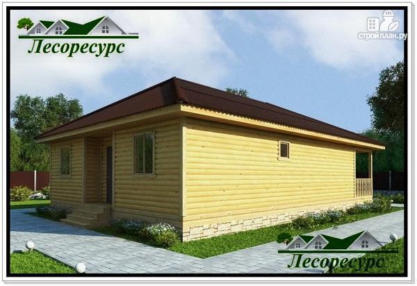 Фото 2: проект одноэтажный каркасный дом с вальмовой крышей