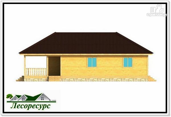 Фото 5: проект одноэтажный каркасный дом с вальмовой крышей