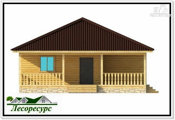 Фото 4: проект одноэтажный каркасный дом с вальмовой крышей