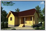 Проект одноэтажный каркасный дом 9 на 9
