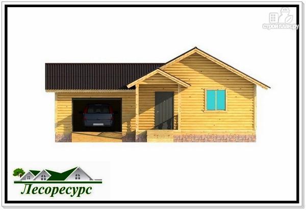 Фото 4: проект одноэтажный каркасный дом с гаражом