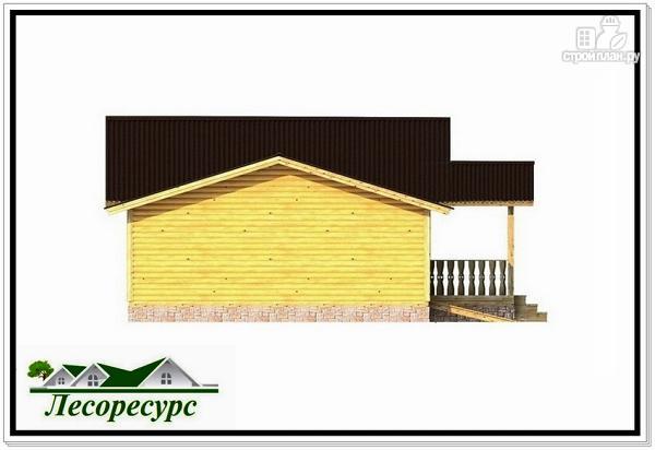 Фото 5: проект одноэтажный каркасный дом с гаражом