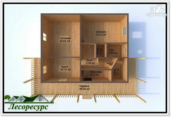 Фото 3: проект одноэтажный каркасный дом 9 на 12