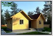 Проект одноэтажный каркасный дом 7 на 9
