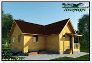 Проект одноэтажный каркасный дом 8 на 9