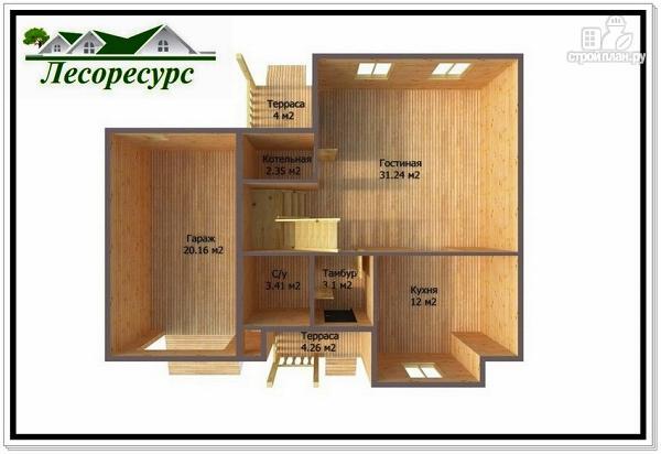 Фото 3: проект двухэтажный каркасный дом 9 на 11