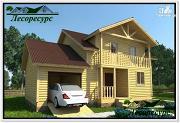 Проект двухэтажный каркасный дом 9 на 11
