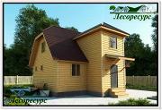 Фото: каркасный дом с котельной