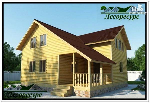 Фото: проект каркасный дом с большой гостиной