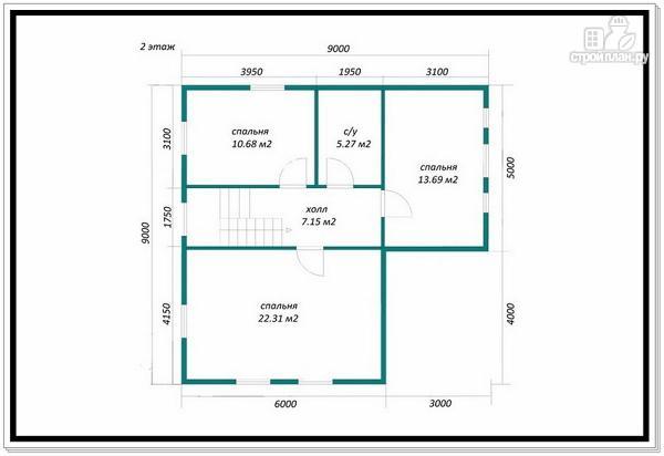 Фото 10: проект каркасный дом с большой гостиной