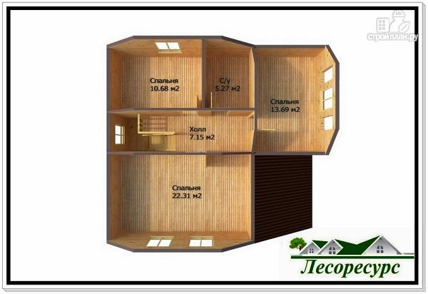Фото 4: проект каркасный дом с большой гостиной