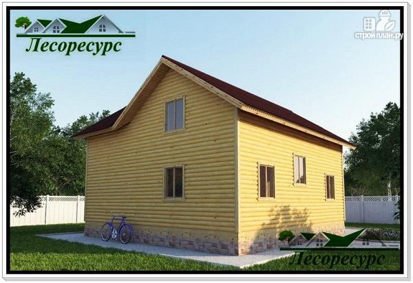 Фото 2: проект каркасный дом с большой гостиной