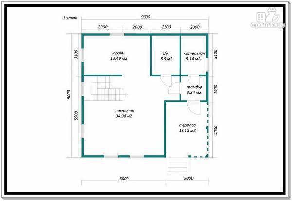 Фото 9: проект каркасный дом с большой гостиной