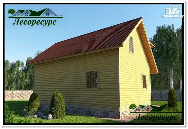 Фото 2: проект каркасный дом с эркером и террасой