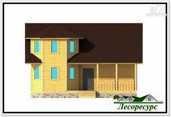 Фото 5: проект каркасный дом с эркером и террасой