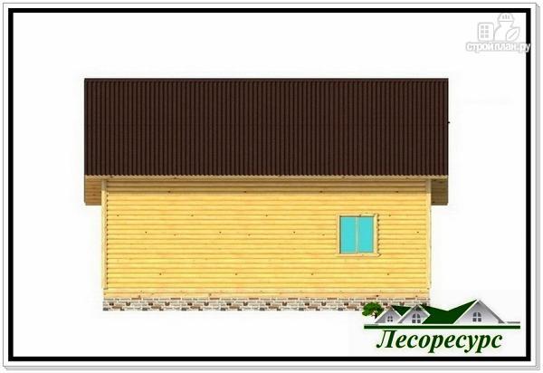 Фото 7: проект каркасный дом с эркером и террасой