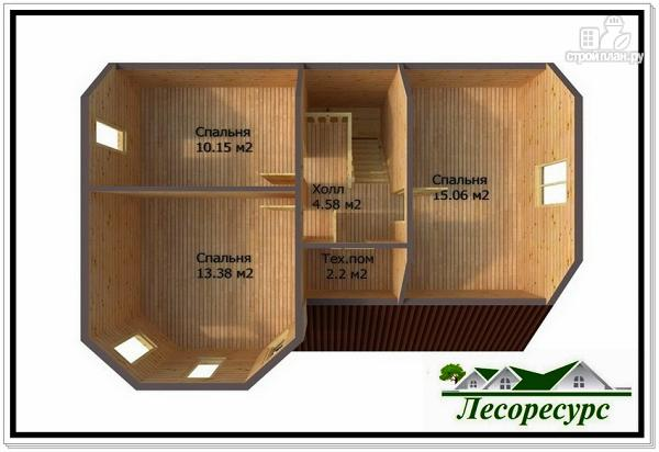 Фото 4: проект каркасный дом с эркером и террасой