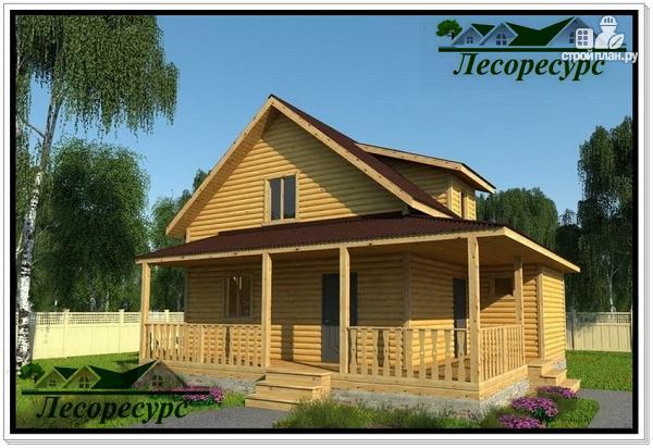 Фото: проект каркасный дом с многоскатной крышей