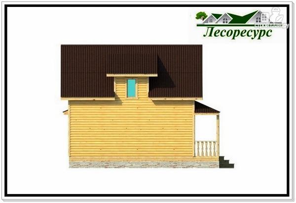 Фото 7: проект каркасный дом с многоскатной крышей