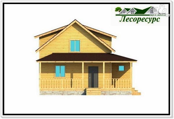Фото 5: проект каркасный дом с многоскатной крышей