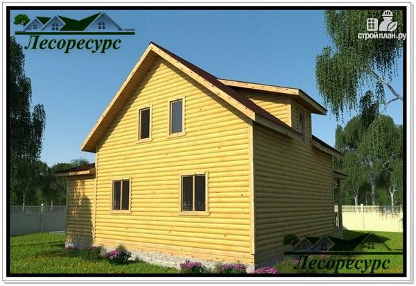 Фото 2: проект каркасный дом с многоскатной крышей