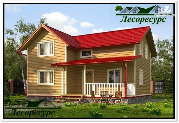 Фото: проект каркасный дом с 4 спальнями
