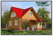 Фото: каркасный дом 7 на 8 с террасой