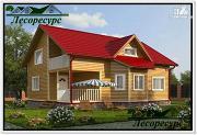 Проект каркасный дом 9 на 10 с террасой
