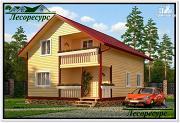 Фото: каркасный дом с балконом над террасой
