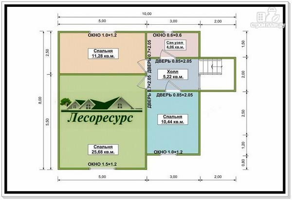 Фото 3: проект каркасный дом 9 на 10 с угловой террасой